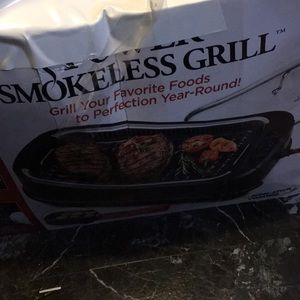 Smokeless grill/griddle combo